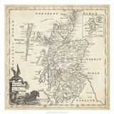 Map of Scotland Art Print