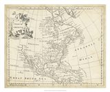Map of North America Art Print