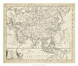 Map of Asia Art Print