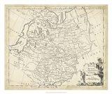 Map of Russia Art Print