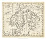 Map of Sweden & Denmark Art Print