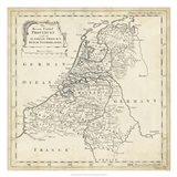 Map of Netherlands Art Print