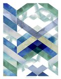 Crystal Chevron I Art Print
