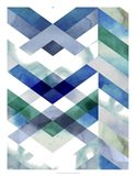 Crystal Chevron II Art Print