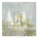 Treeline Collage I Art Print