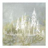 Treeline Collage II Art Print