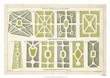 European Garden Design II Art Print
