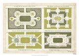 European Garden Design III Art Print