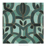 Turquoise Mosaic I Art Print