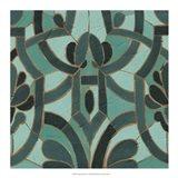 Turquoise Mosaic II Art Print