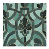 Turquoise Mosaic III Art Print