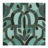 Turquoise Mosaic IV Art Print