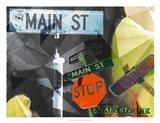 Main Street Collage Art Print