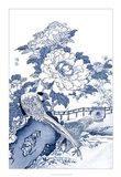 Blue & White Asian Garden II Art Print