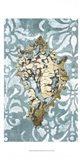 Gilded Solitary Shell I - Metallic Foil Art Print