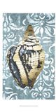 Gilded Solitary Shell II - Metallic Foil Art Print