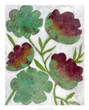 Verdigris Blooms I Art Print