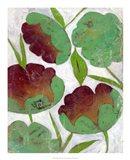 Verdigris Blooms II Art Print