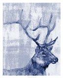Indigo Elk Art Print