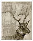 Sepia Elk Art Print