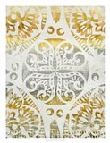 Tapestry Rosette I Art Print