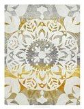 Tapestry Rosette II Art Print