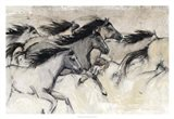 Horses in Motion I Art Print