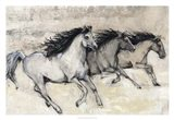 Horses in Motion II Art Print