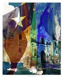 Alamo Flag Art Print