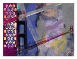 San Francisco Bridge Abstract II Art Print
