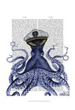 Captain Octopus Art Print