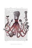 Octopus Fabulous French Chef Art Print