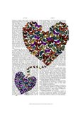 Two Butterfly Hearts Art Print