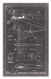 Aeronautic Blueprint II Art Print