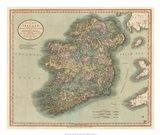 Vintage Map of Ireland Art Print