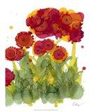 Poppy Whimsy IV Art Print