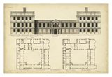 Elevation & Plan for Castle Abby Art Print