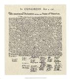 Declaration of Independence Doc. Art Print