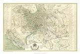 Landmarks of Rome Art Print