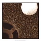 Sepia Golf Ball Study II Art Print