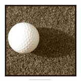 Sepia Golf Ball Study III Art Print