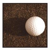 Sepia Golf Ball Study IV Art Print