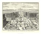 Fountains of Versailles I Art Print