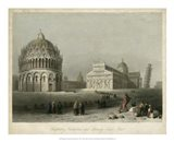 Baptistry, Cathedral &Leaning Tower Art Print