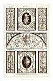 Sepia Pergolesi Panel I Art Print