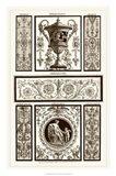 Sepia Pergolesi Panel II Art Print
