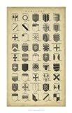 Vintage Heraldry I Art Print