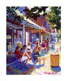 Colorful Cafe Art Print