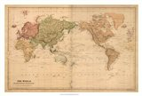 Map of the World, c.1800's (mercator projection) Art Print