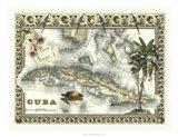 Map of Cuba Art Print